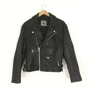 Vintage Leather Motorcycle Jacket